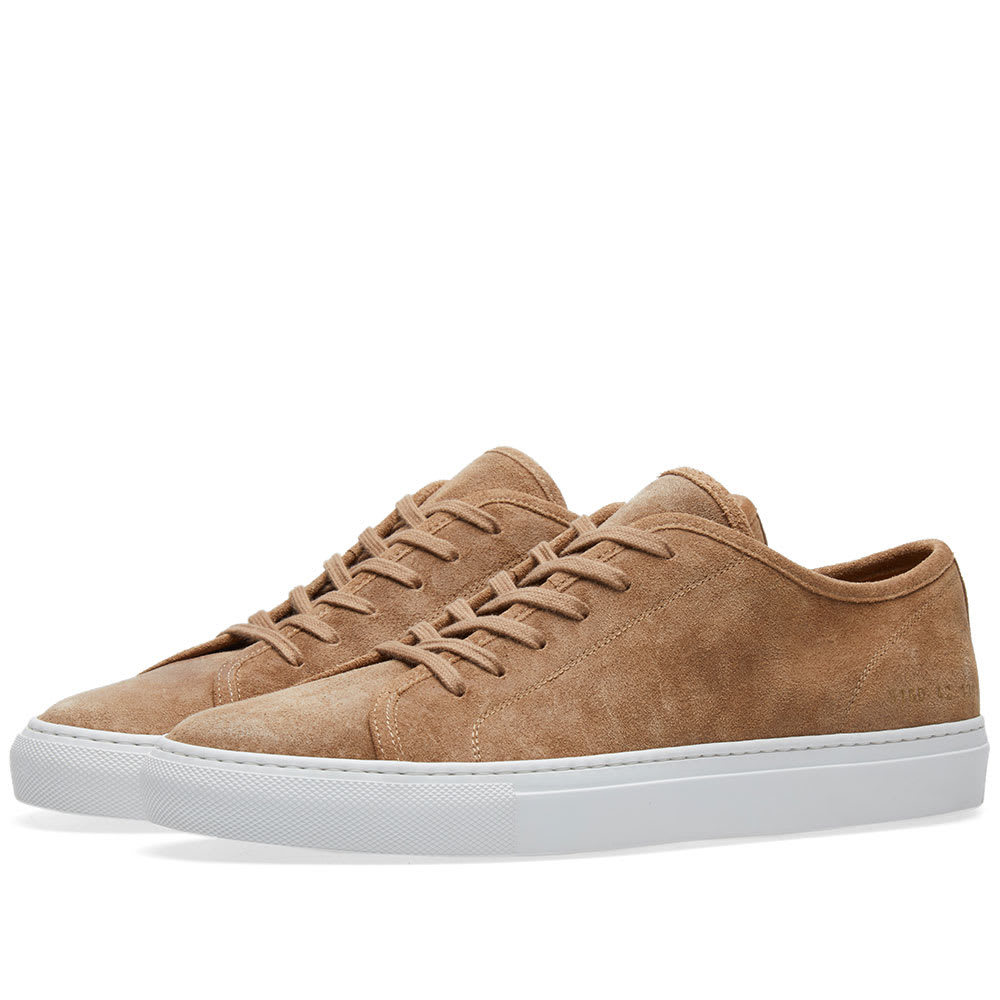 Photo: Common Projects Tournament Low Waxed Suede Neutrals
