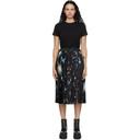 Sacai Black Star Print T-Shirt Dress