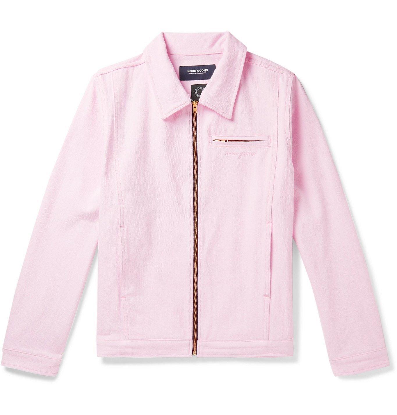 Photo: Noon Goons - Glasser Oversized Garment-Dyed Denim Jacket - Pink