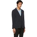 Giorgio Armani Navy Jacquard Braid Design Blazer