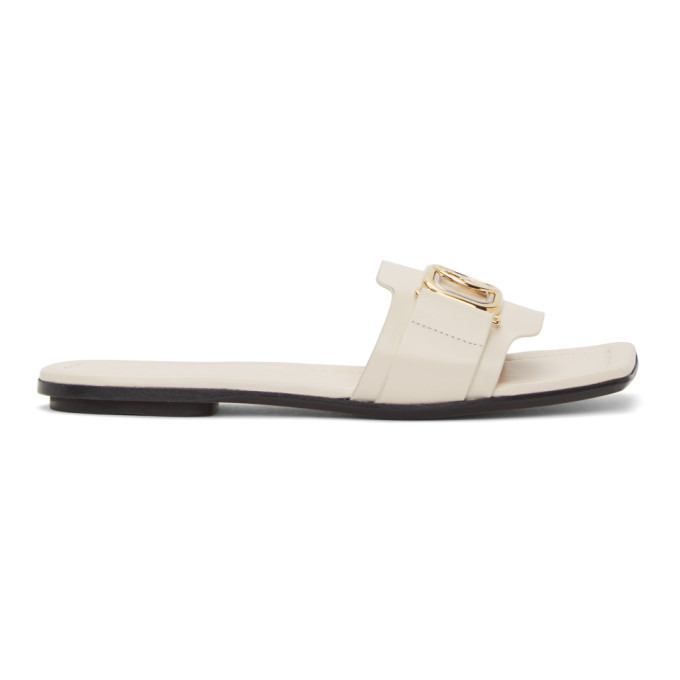 Photo: Lanvin White Swan Slides