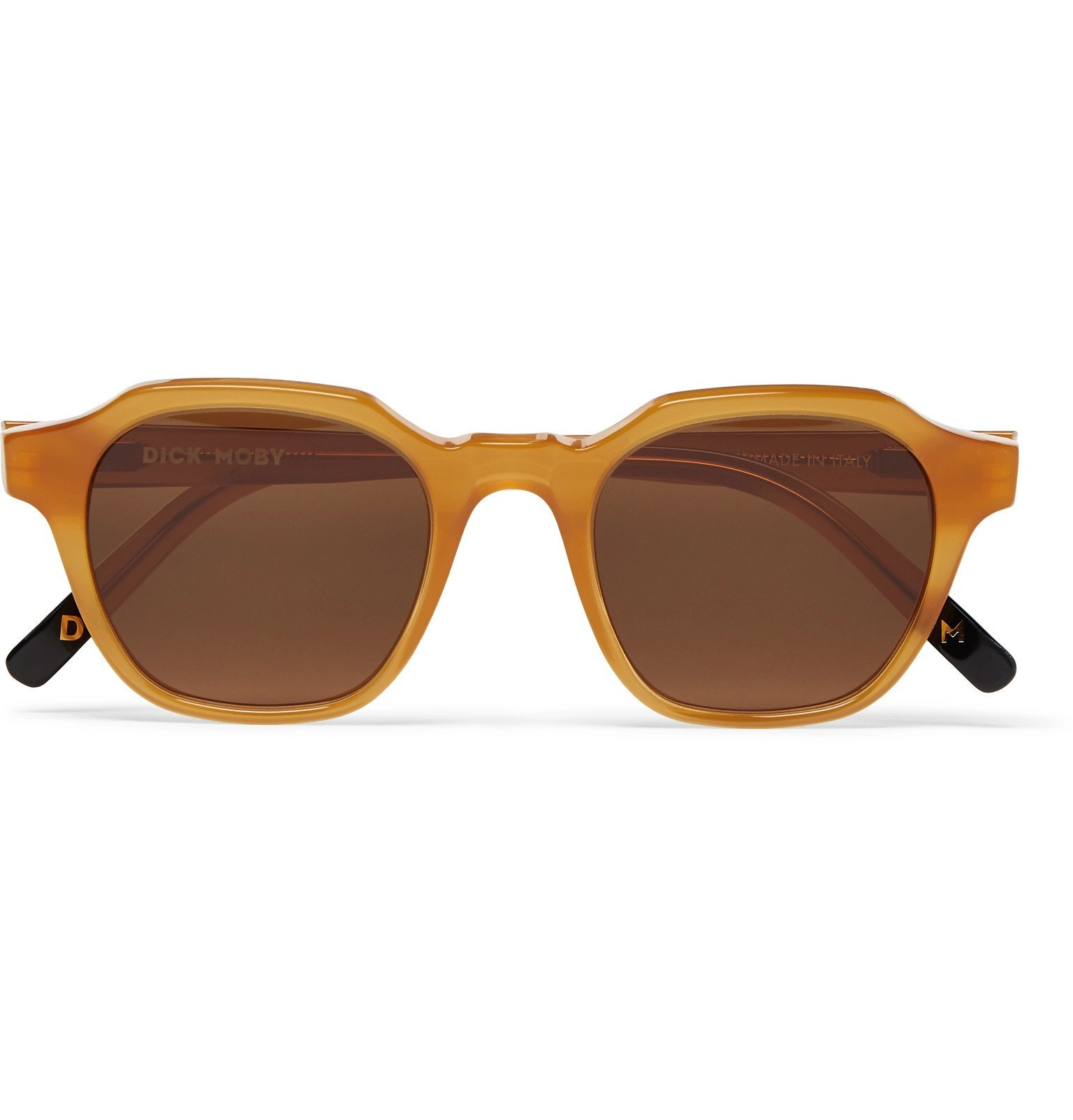 Photo: Dick Moby - Barcelona D-Frame Acetate Sunglasses - Yellow