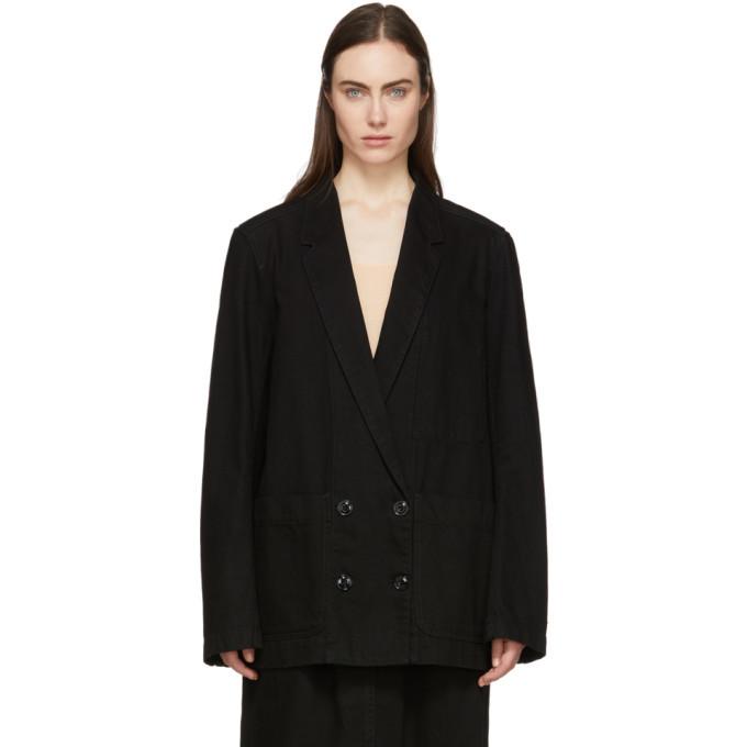 Photo: Lemaire Black Denim Double-Breasted Jacket
