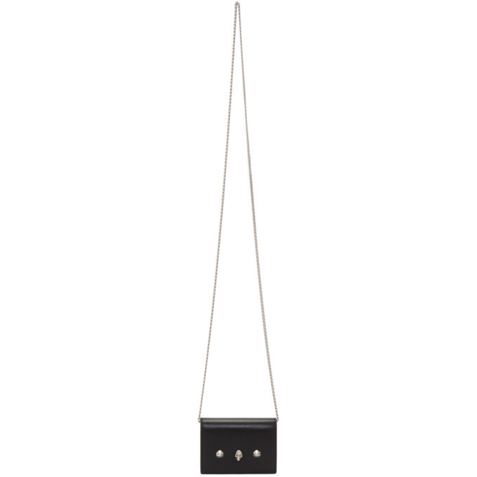 Photo: Alexander McQueen Black Chain Card Holder Bag