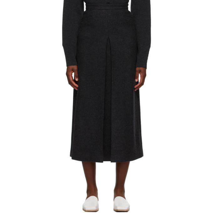 Photo: AURALEE Grey Melton Wool Skirt