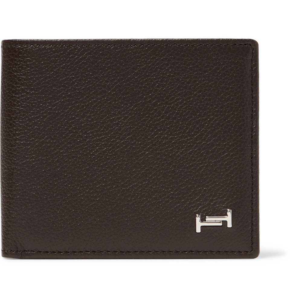 Photo: Tod's - Logo-Appliquéd Full-Grain Leather Billfold Wallet - Dark brown