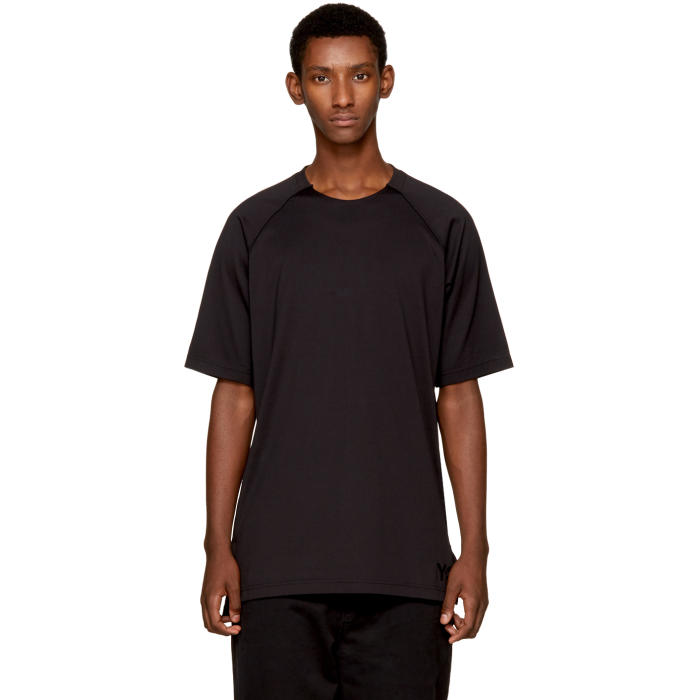 Y-3 Black Jersey Logo T-Shirt