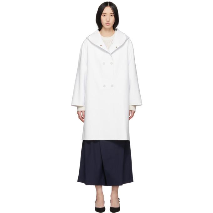 Max Mara White Stilla Coat