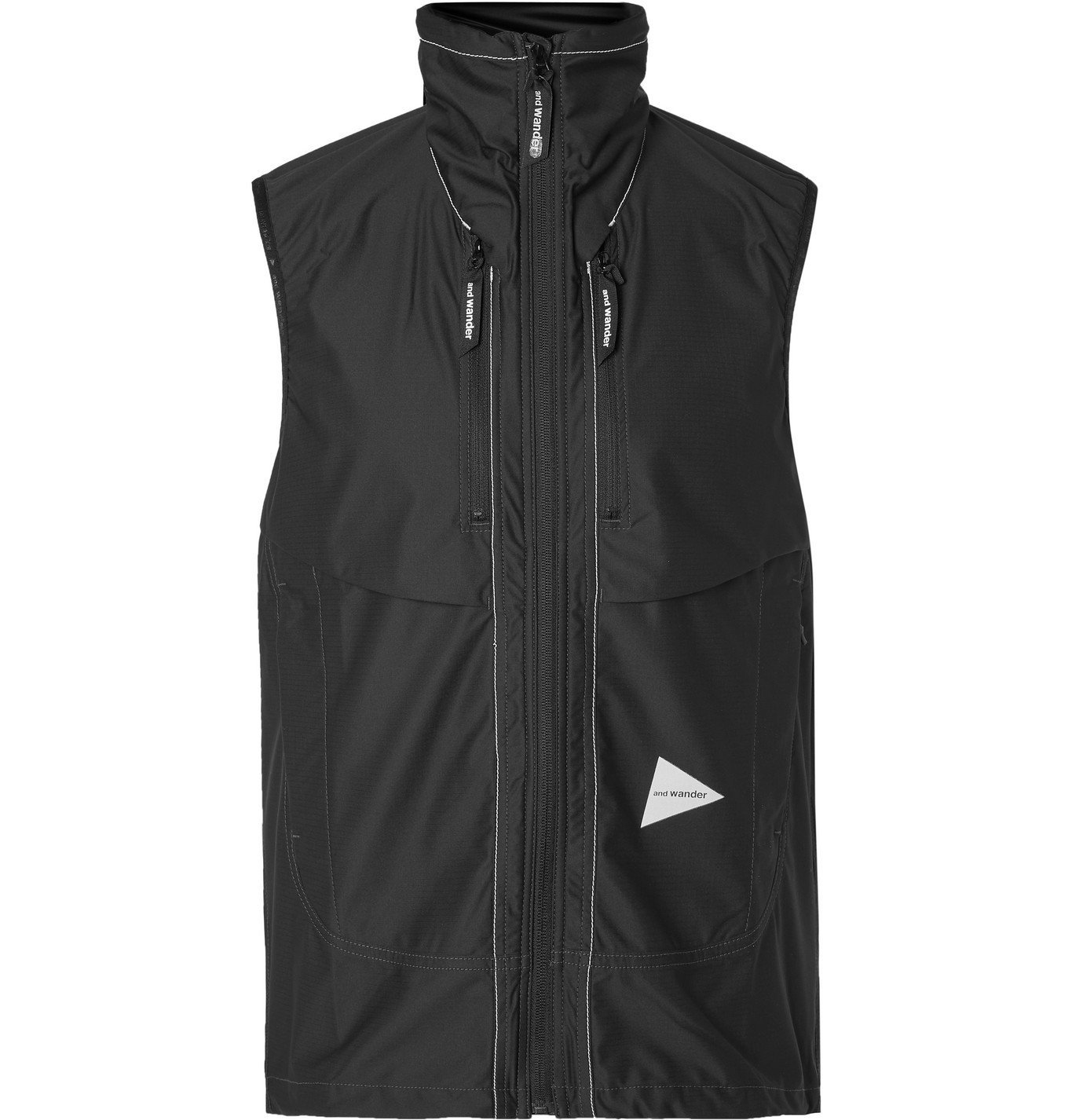 Photo: And Wander - Shell Hooded Gilet - Black