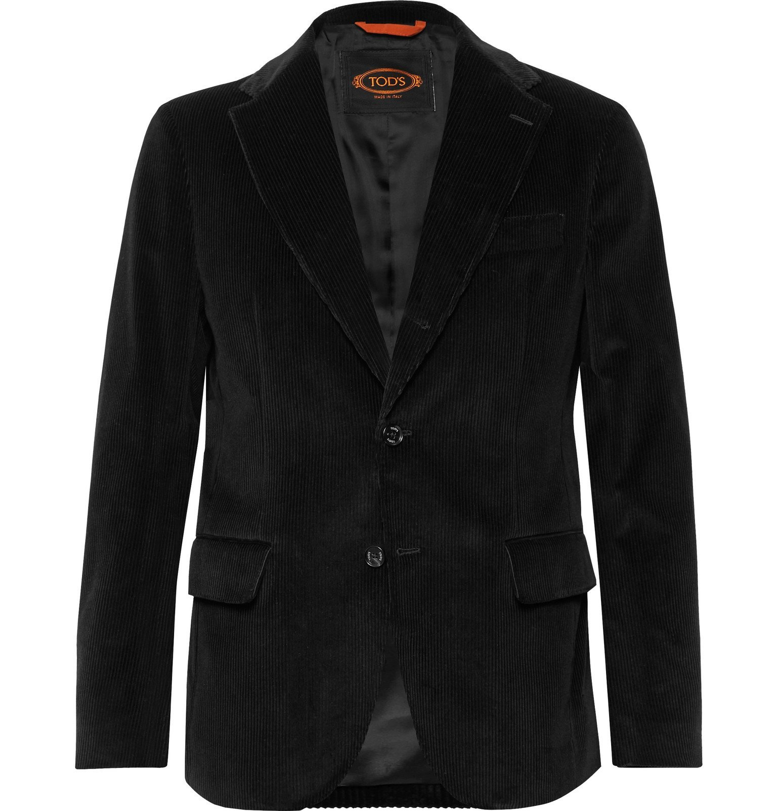 Photo: Tod's - Black Cotton-Velvet Suit Jacket - Black
