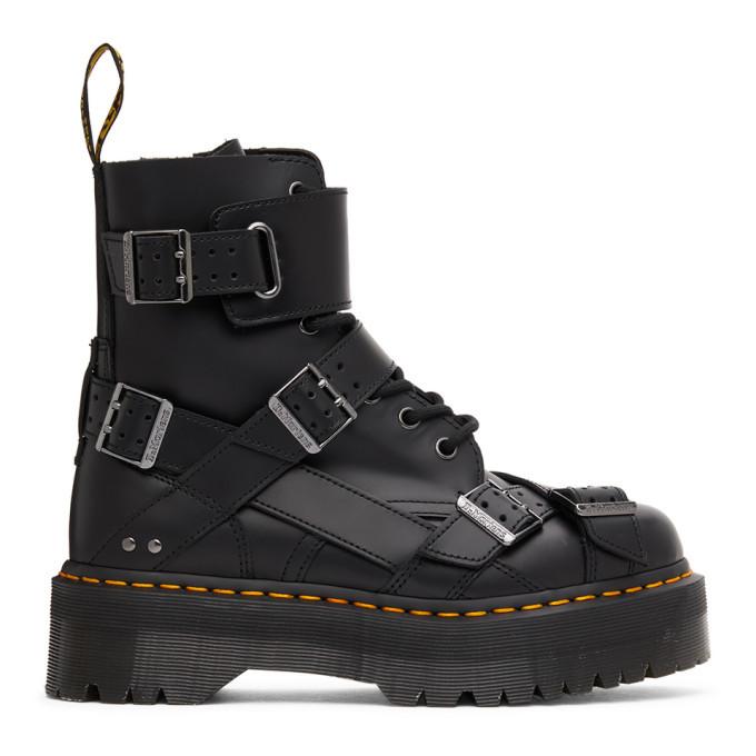 Photo: Dr. Martens Black Jadon Strap Lace-Up Boots