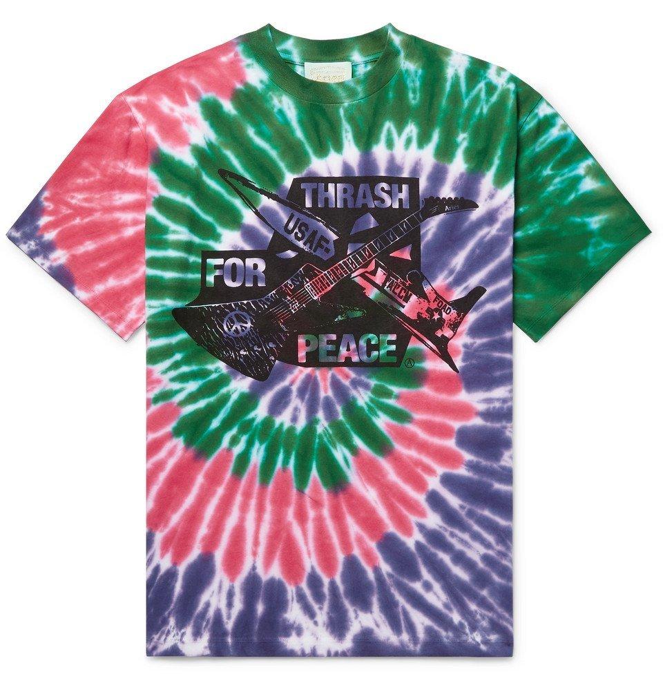 Aries - Printed Tie-Dyed Cotton-Jersey T-Shirt - Men - Multi