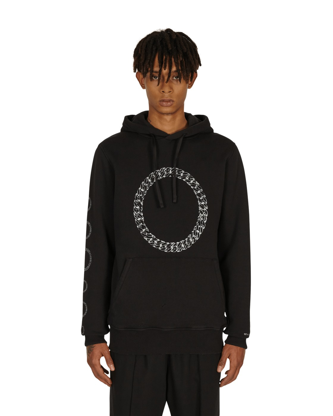 Photo: 1017 Alyx 9sm Cube Chain Graphic Hooded Sweatshirt Black