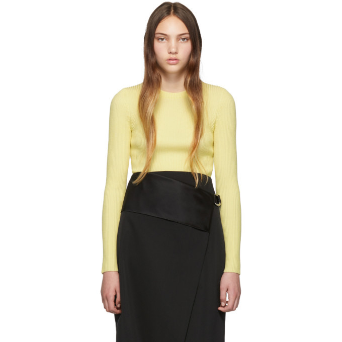3.1 Phillip Lim Yellow Ribbed Pullover Sweater