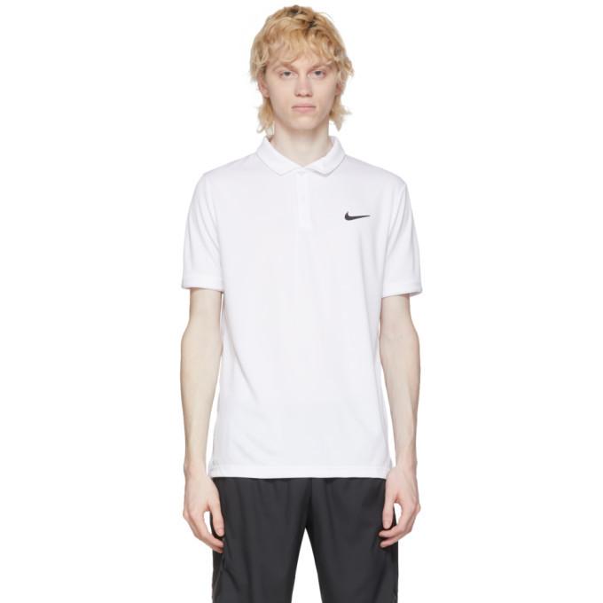 Photo: Nike White Dri-FIT Polo
