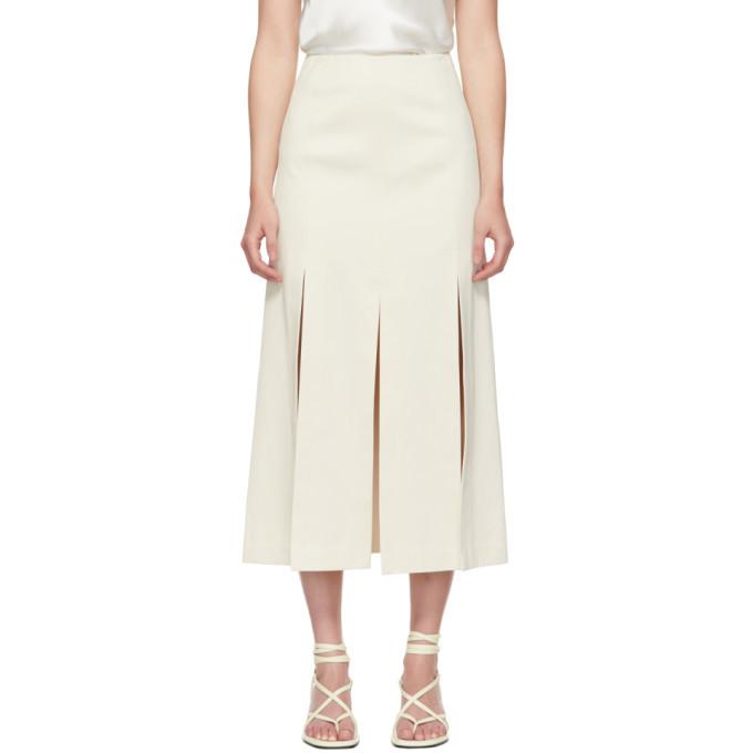 3.1 Phillip Lim Off-White Sateen Multi Slit Skirt