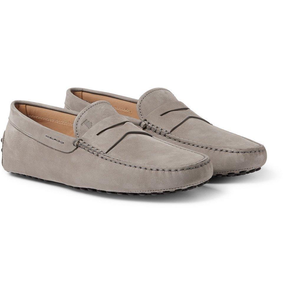 Tod's - Gommino Nubuck Driving Shoes - Men - Gray