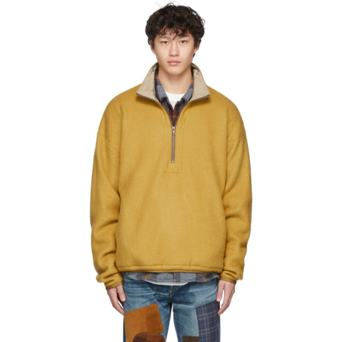 Photo: Remi Relief Yellow Fleece Half-Zip Sweater