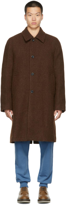 Photo: Dries Van Noten Brown Felted Alpaca Coat