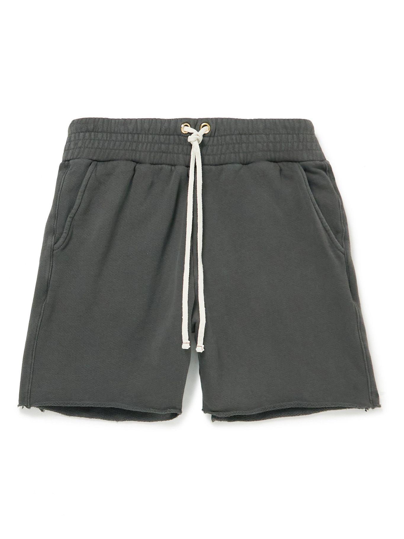Photo: Les Tien - Garment-Dyed Fleece-Back Cotton-Jersey Drawstring Shorts - Unknown