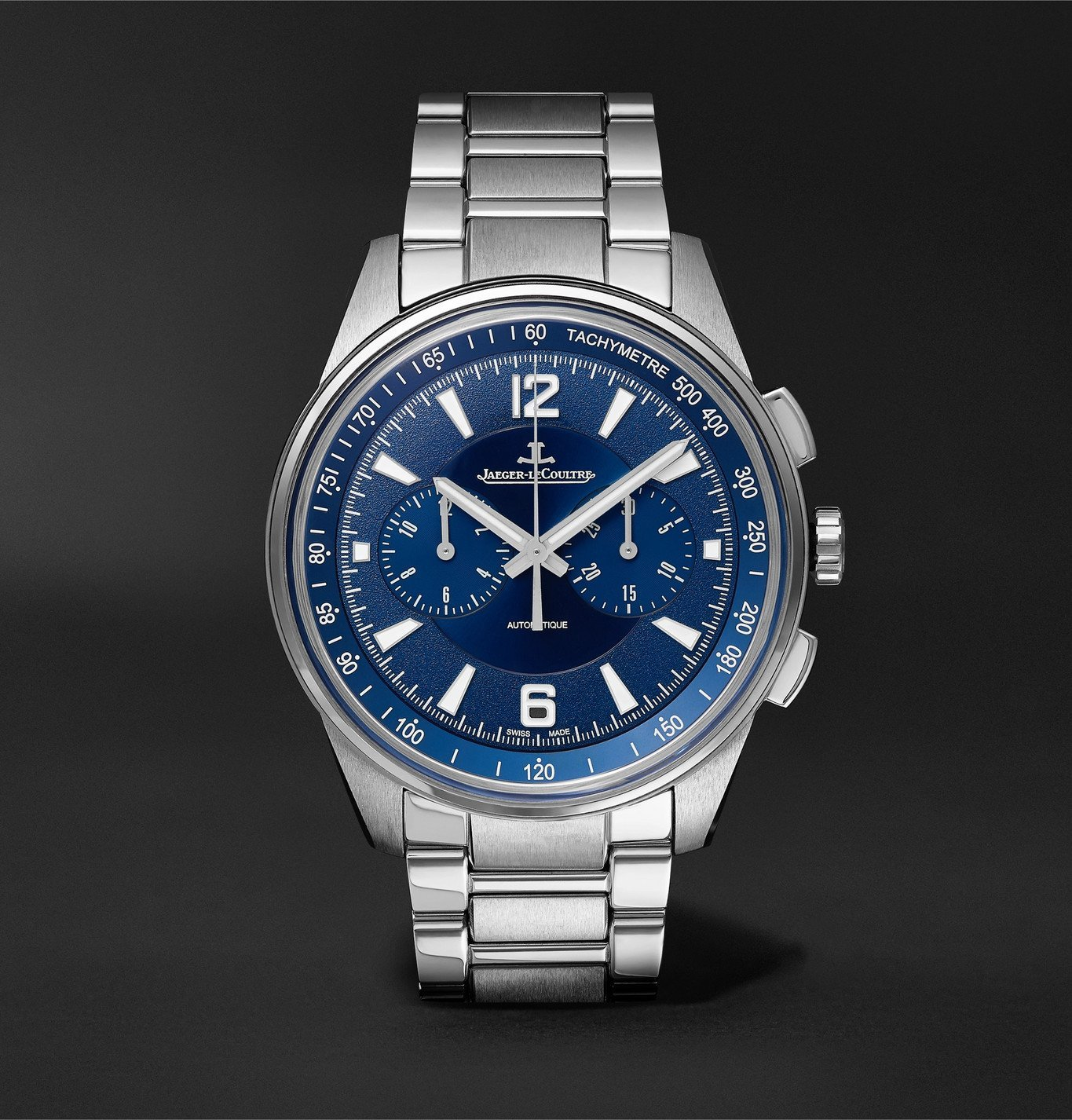 Photo: Jaeger-LeCoultre - Polaris Automatic Chronograph 42mm Stainless Steel Watch, Ref. No. 9028180 - Blue