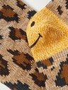 KAPITAL - Smiley Leopard-Jacquard Cotton-Blend Socks