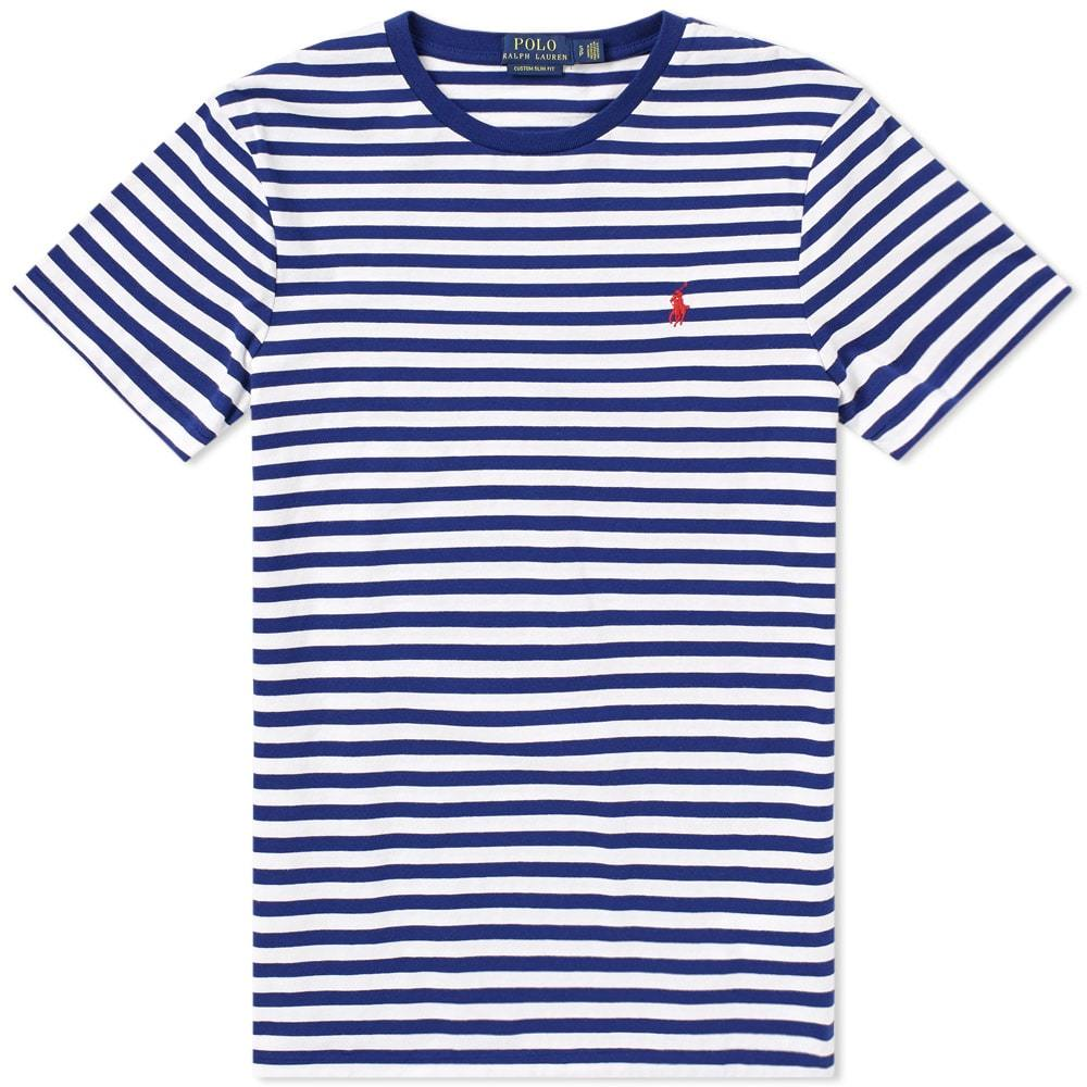 Photo: Polo Ralph Lauren Classic Stripe Tee Blue