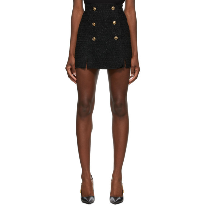 Photo: Versace Jeans Couture Black Tweed Miniskirt
