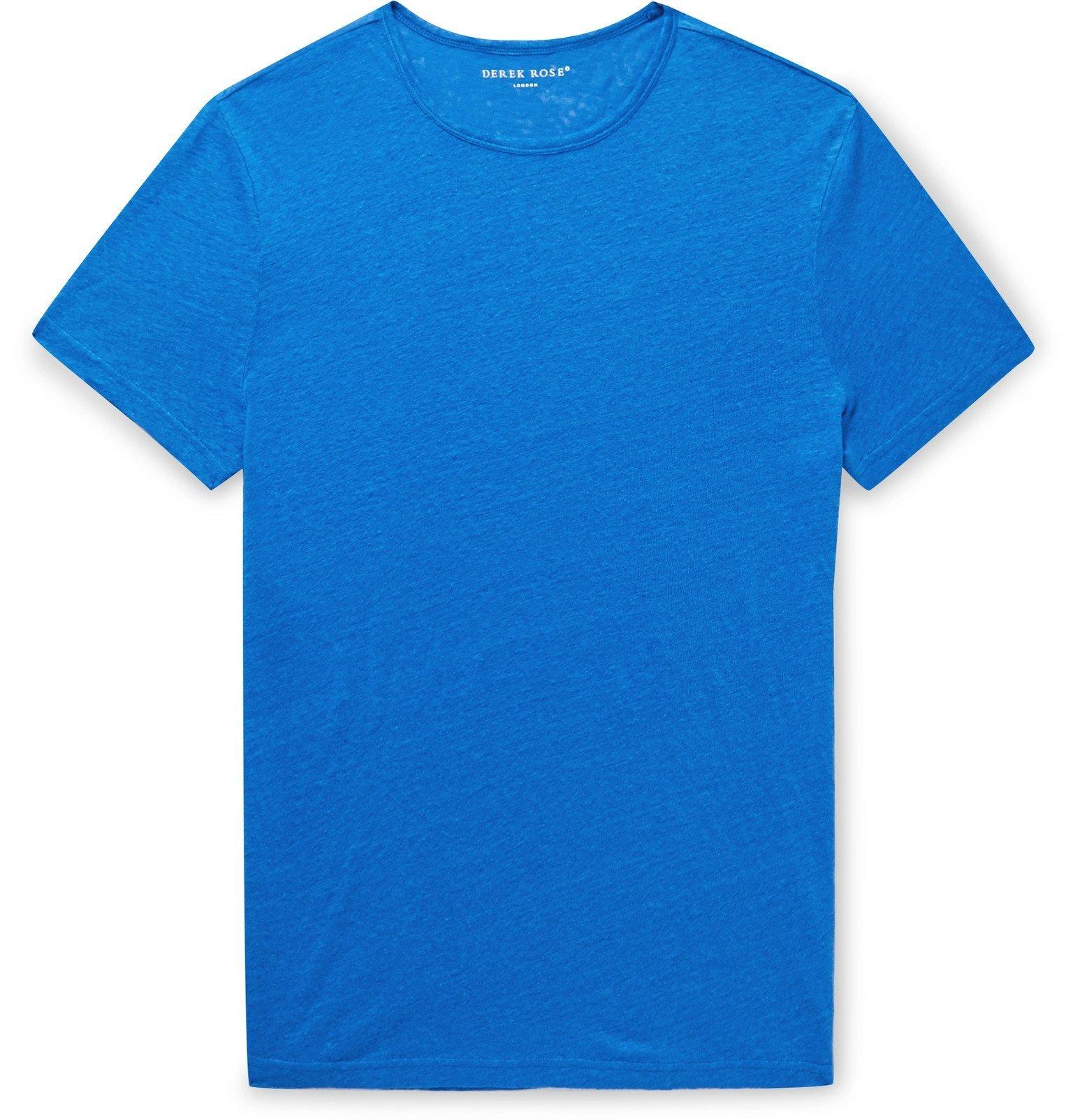Photo: Derek Rose - Jordan Linen T-Shirt - Blue