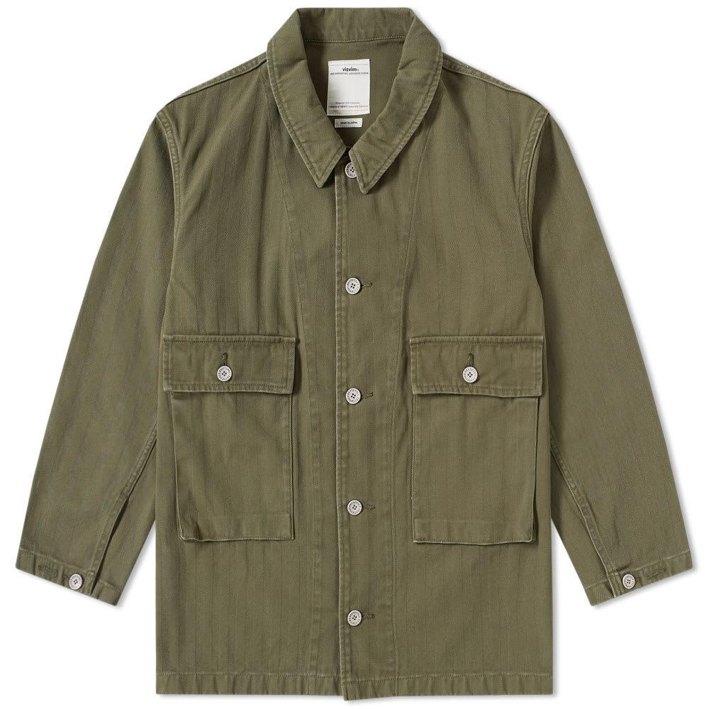 Photo: Visvim Fuller Coverall Shirt Green