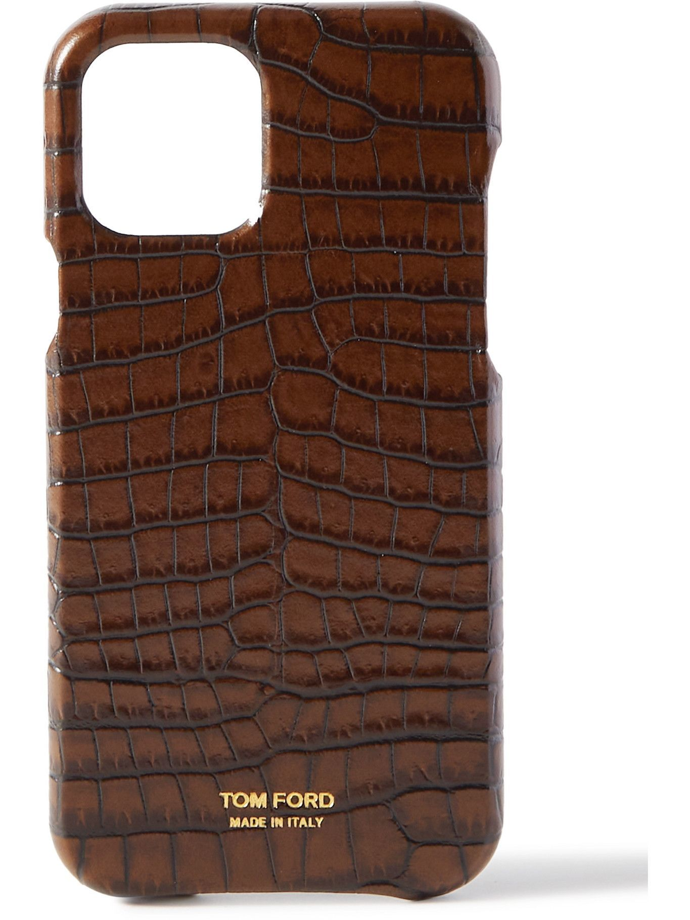 Photo: TOM FORD - Croc-Effect Leather iPhone 12 Pro Case