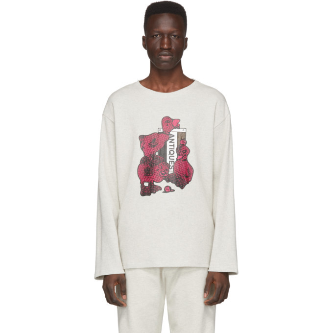 Photo: Rochambeau Grey Thermal Long Sleeve T-Shirt
