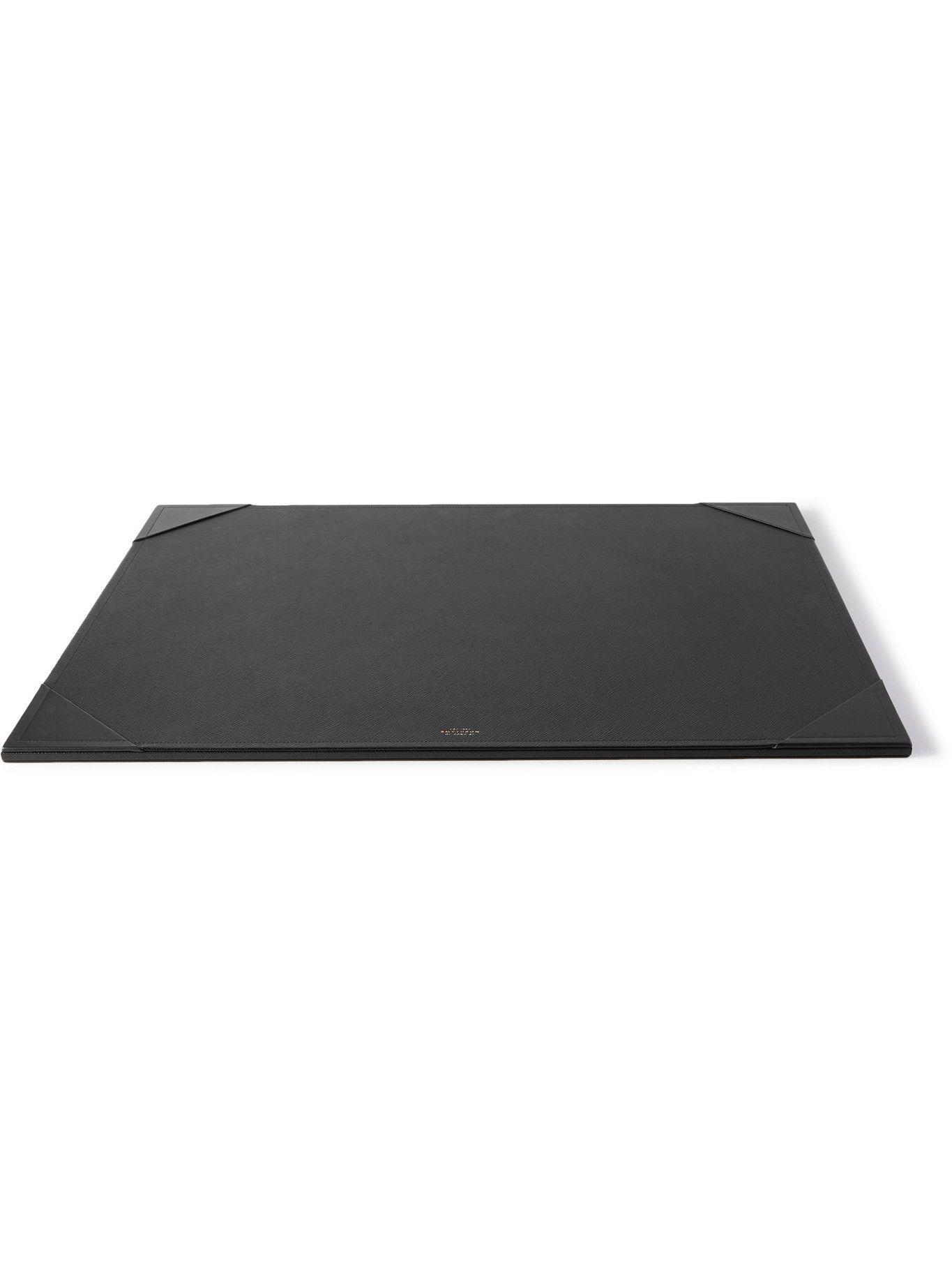 Photo: Smythson - Panama Large Cross-Grain Leather Desk Mat