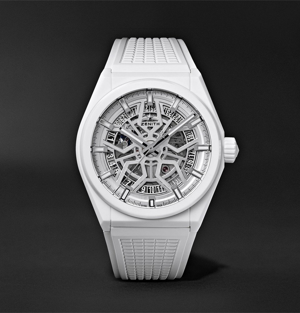 Photo: Zenith - Defy Classic Automatic 41mm Ceramic and Rubber Watch - White