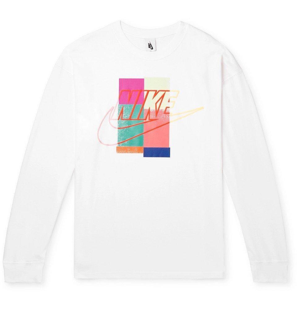 Photo: Nike - atmos Logo-Print Cotton-Jersey T-Shirt - White