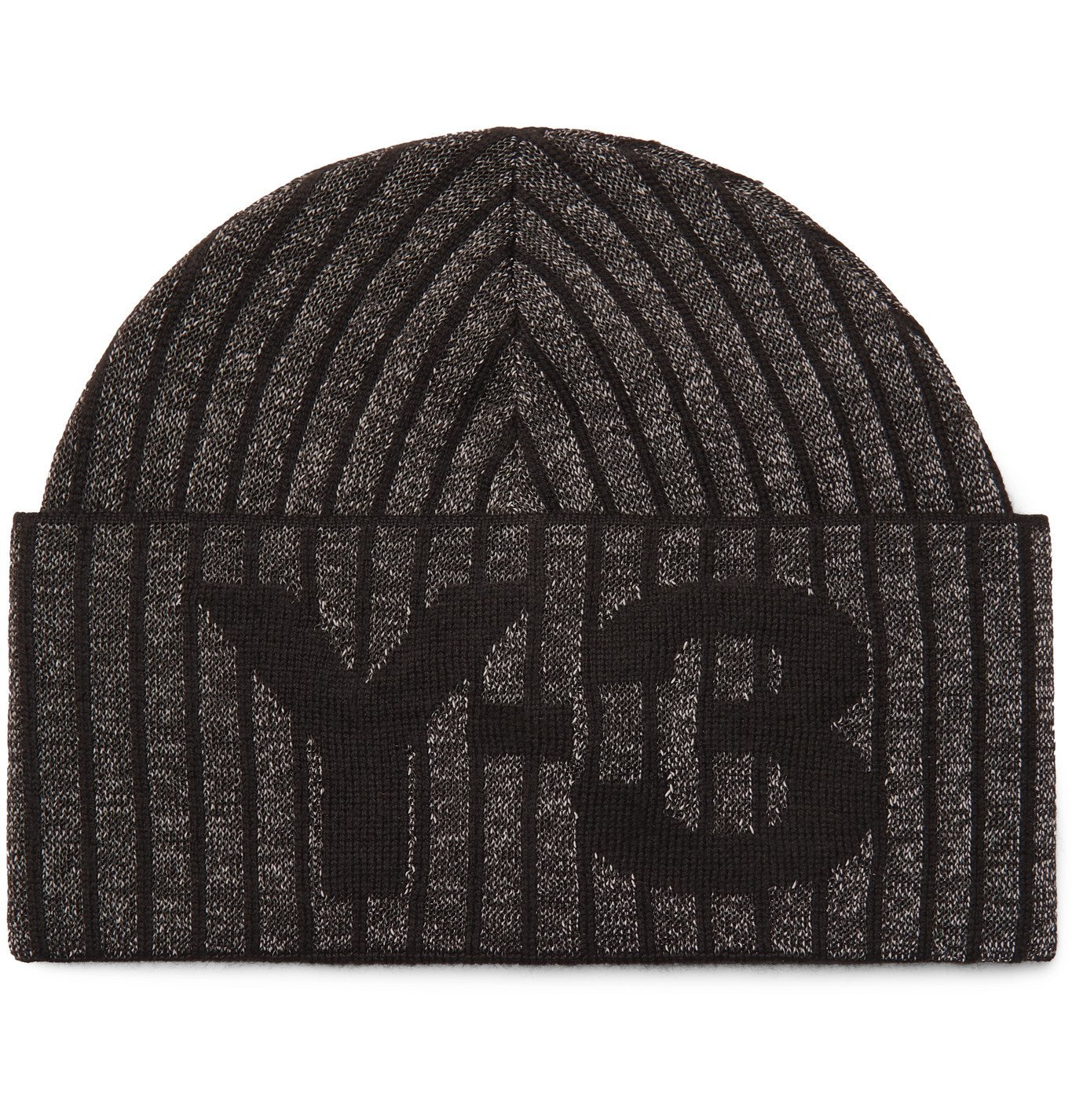 Photo: Y-3 - Logo-Intarsia Metallic Knitted Beanie - Black