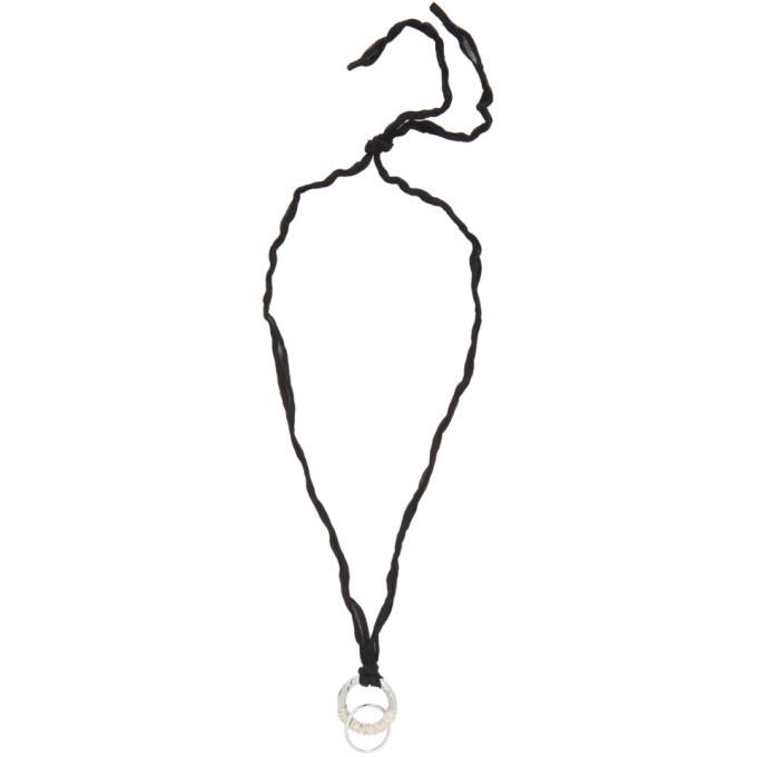Photo: Jil Sander Black and Silver Wrap Necklace