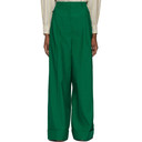 3.1 Phillip Lim Green Wide-Leg Trousers