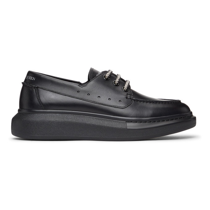 Photo: Alexander McQueen Black Leather Boat Shoes