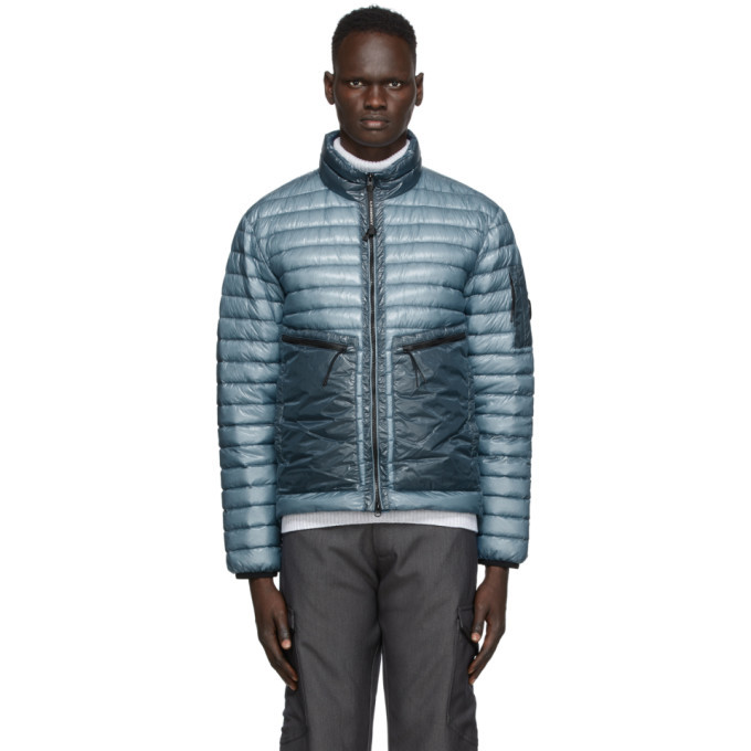 Photo: C.P. Company Blue Down Nylon Light Jacket