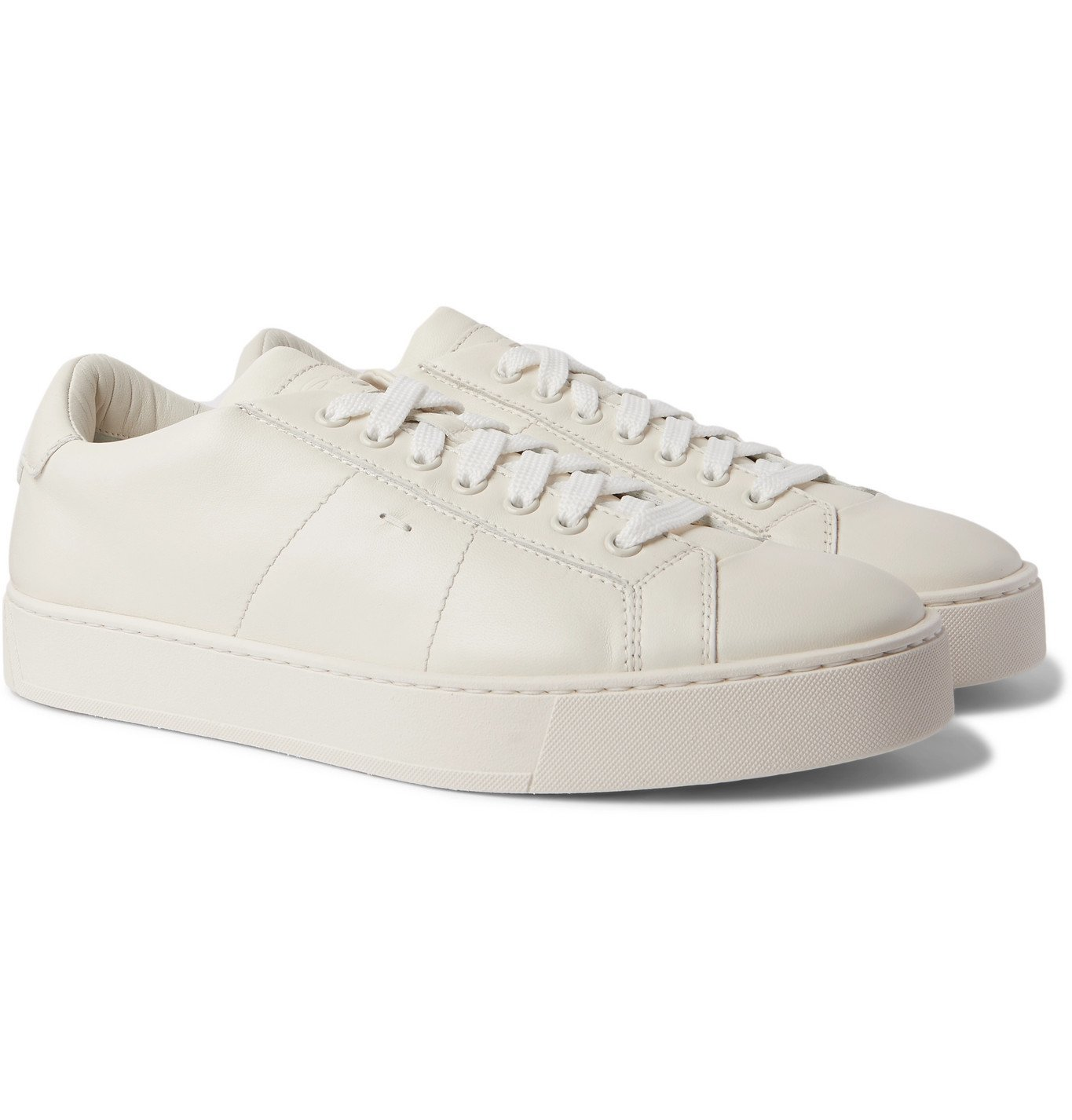 Photo: Santoni - Leather Sneakers - White