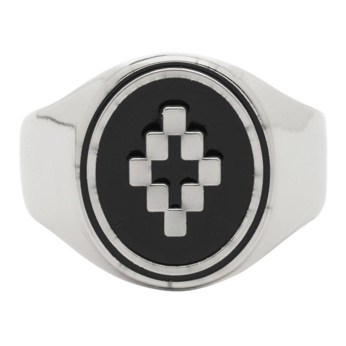 Photo: Marcelo Burlon County of Milan Silver and Black Cross Ring