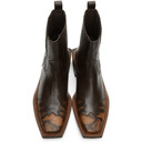Martine Rose Brown Snake Chelsea Boots