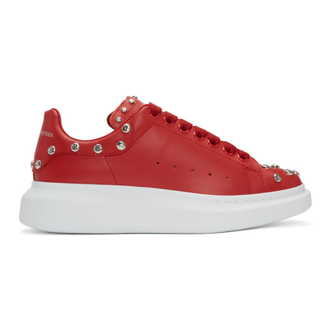 Photo: Alexander McQueen Red Studded Oversized Sneakers