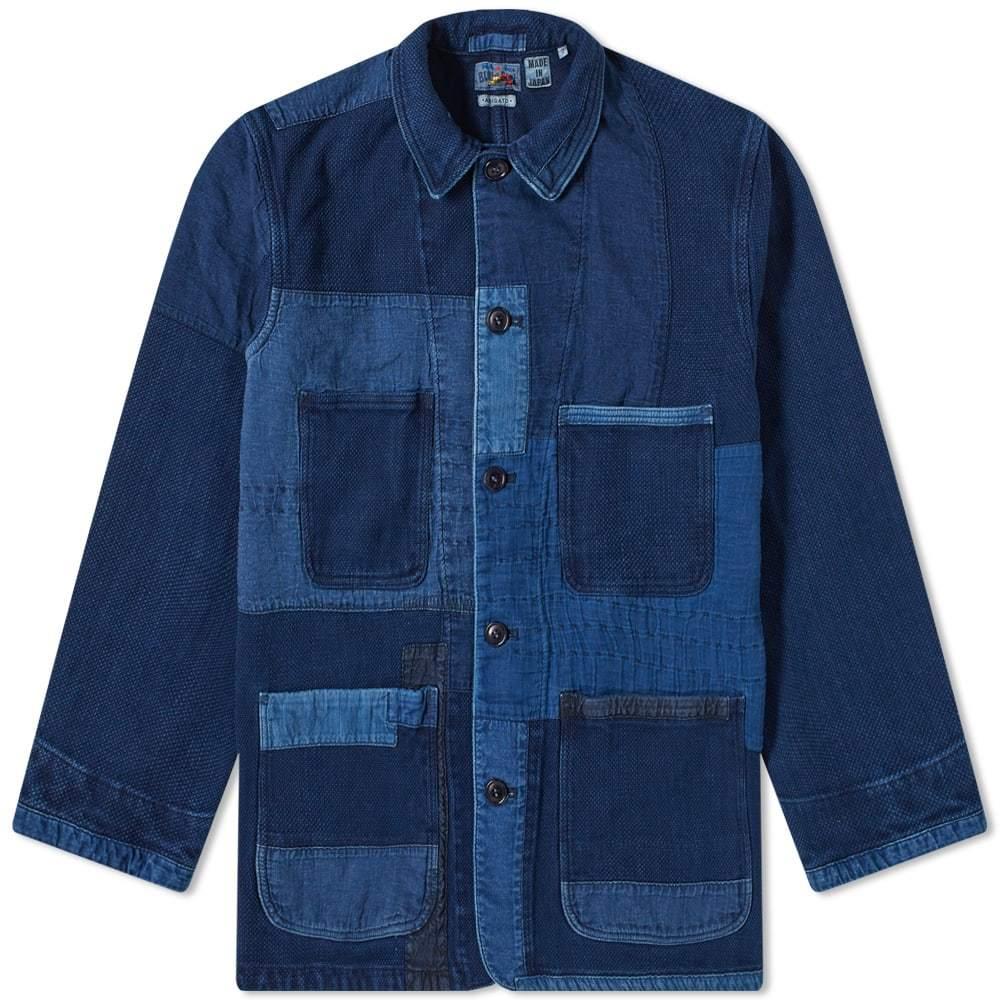 Photo: Blue Blue Japan Sashiko Patchwork Coverall Jacket