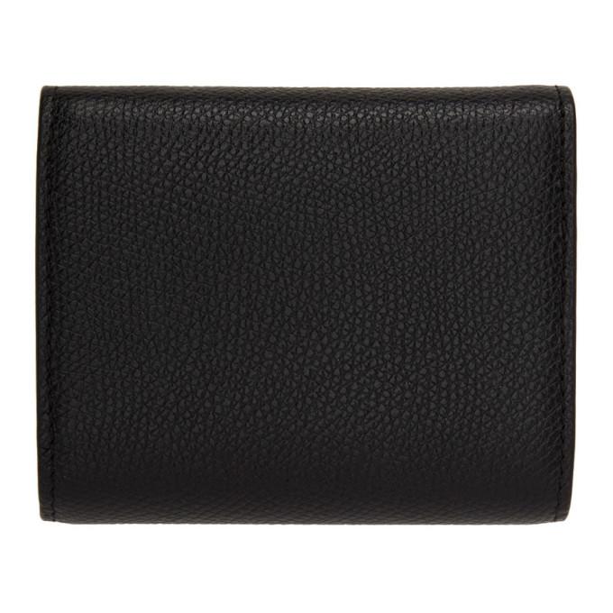 Valentino Black Valentino Garavani Mini VSling Trifold Wallet