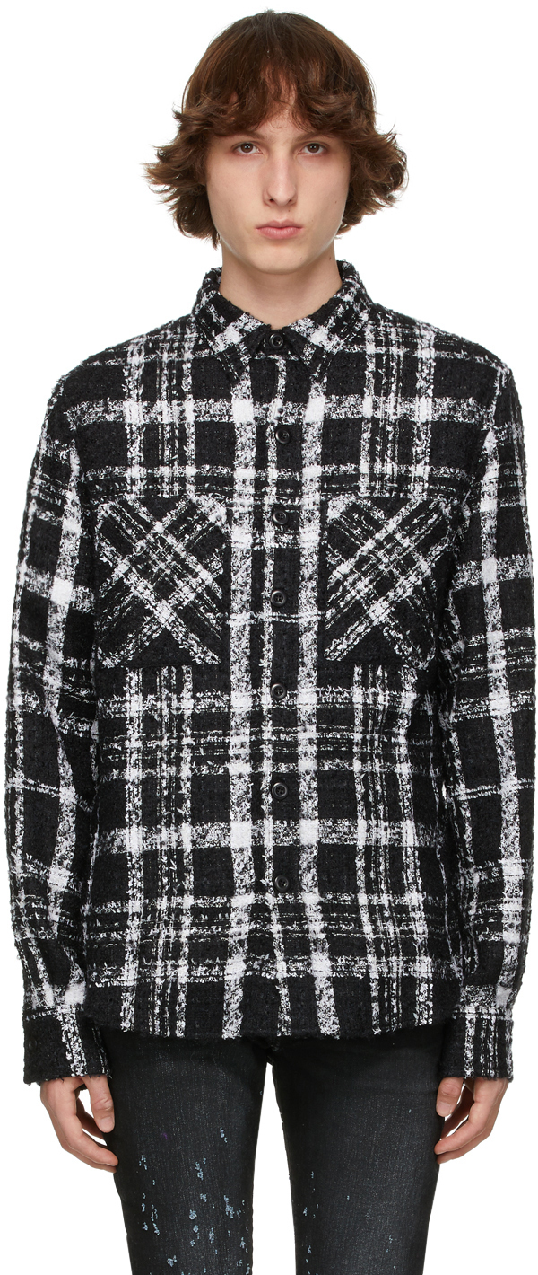 Photo: Faith Connexion SSENSE Exclusive Black & White Mohair Tweed Shirt