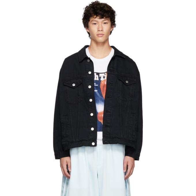 Photo: Martine Rose Black Oversized Denim Jacket