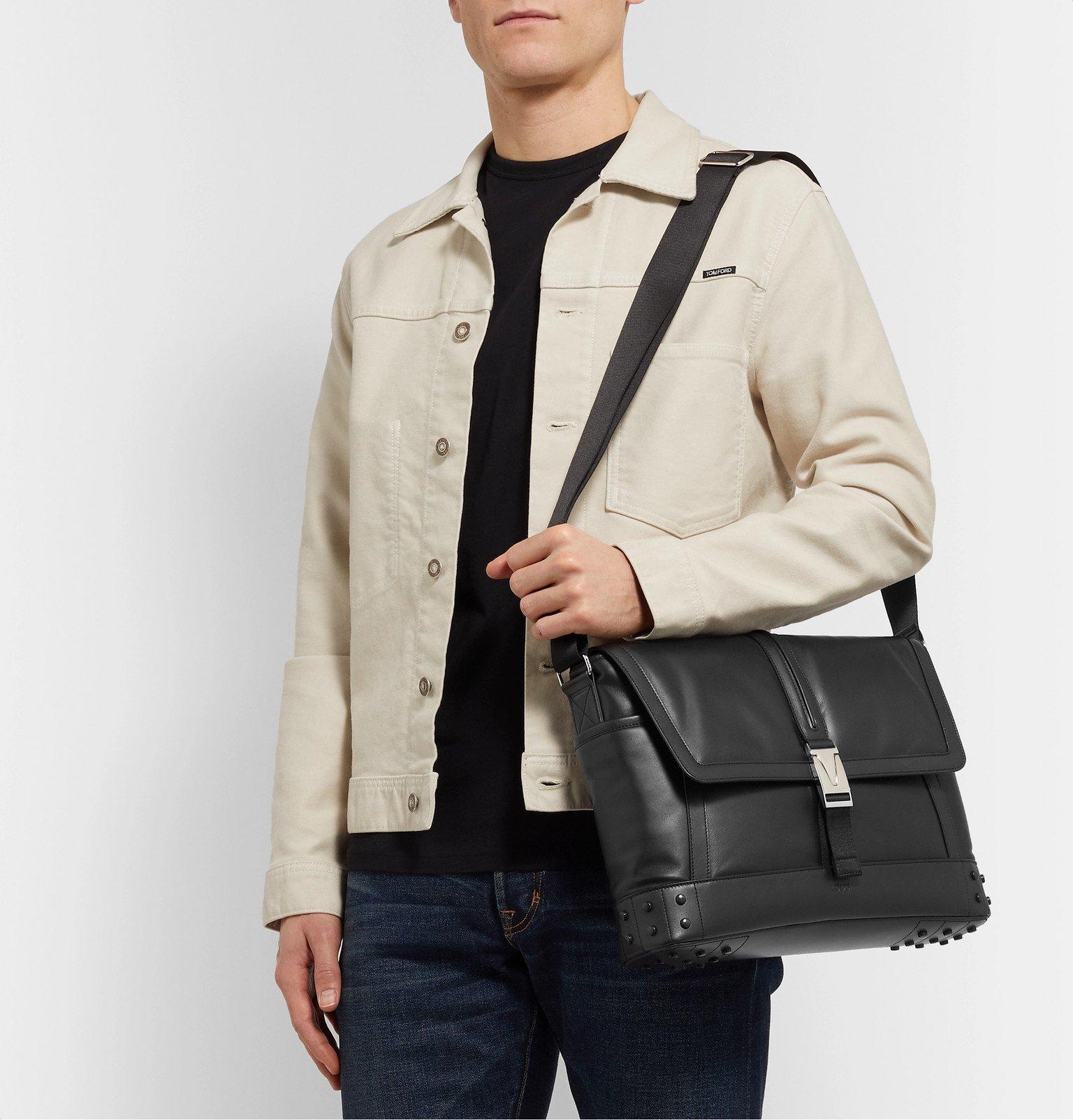 Tod's - Gommino Leather Messenger Bag - Black