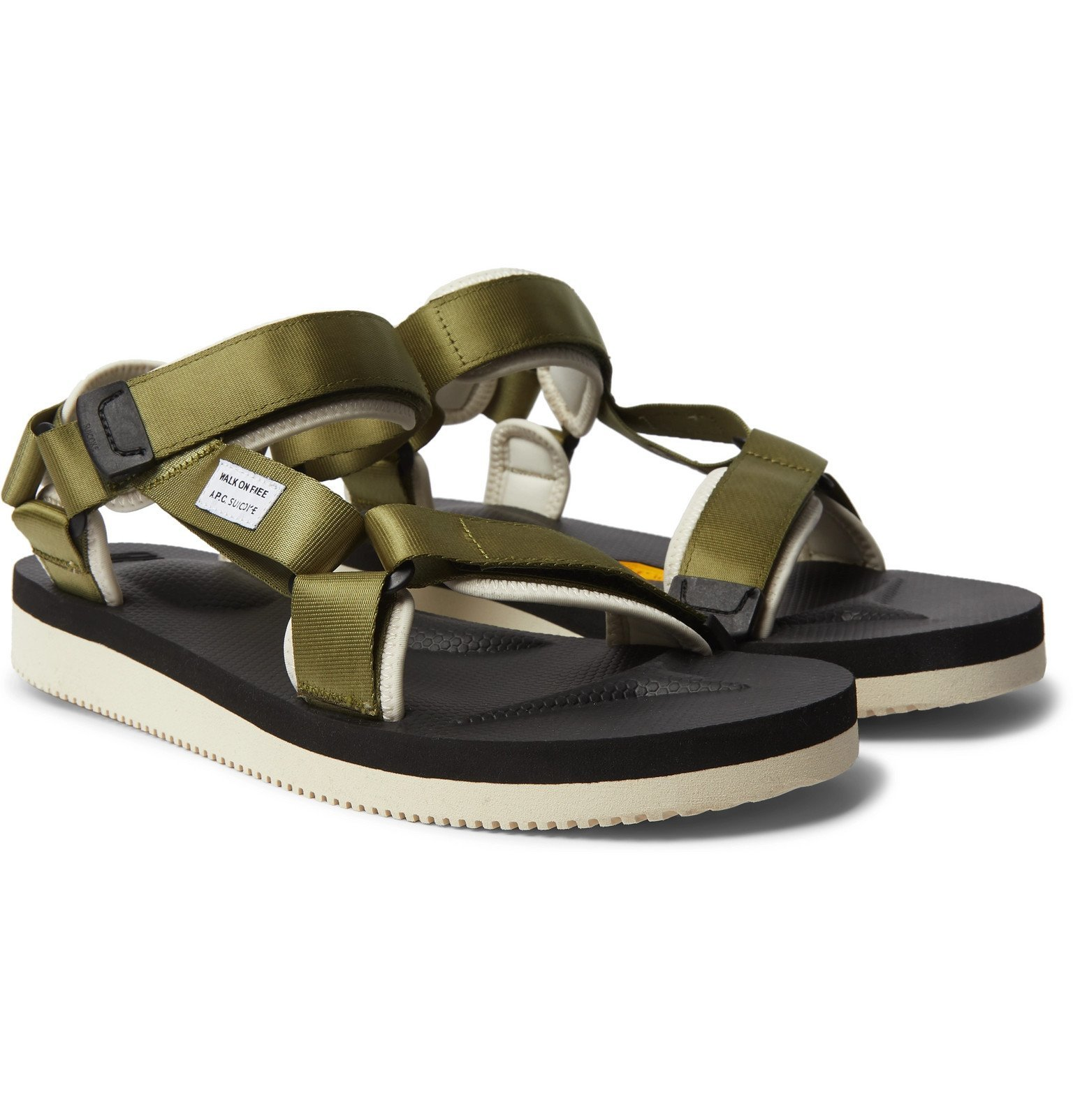 Photo: A.P.C. - Suicoke Depa-V2 Webbing and Rubber Sandals - Green